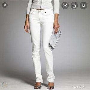 J Crew white classic Match Stick fit white jeans